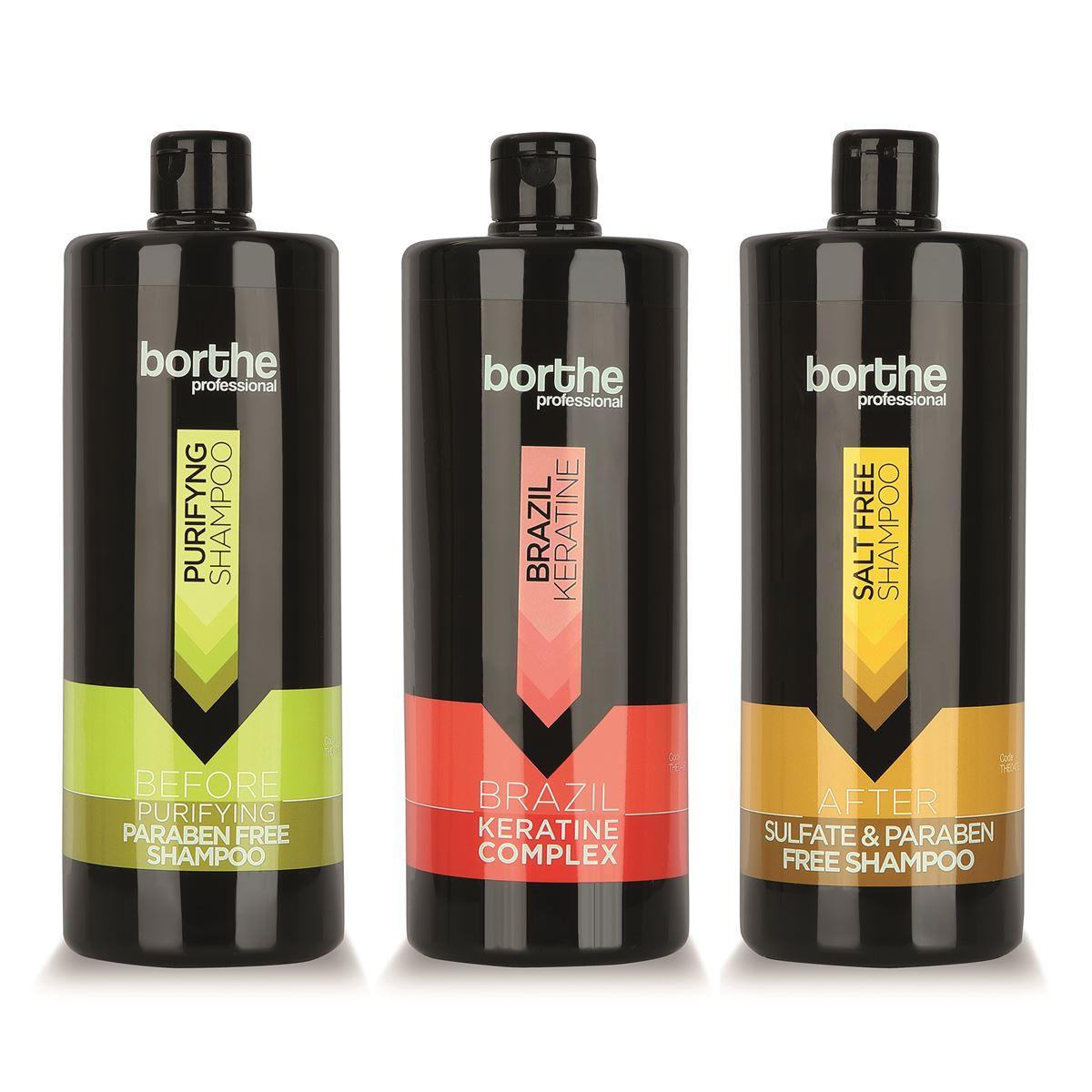 Borthe 3'lü Keratin Saç Bakım Seti
