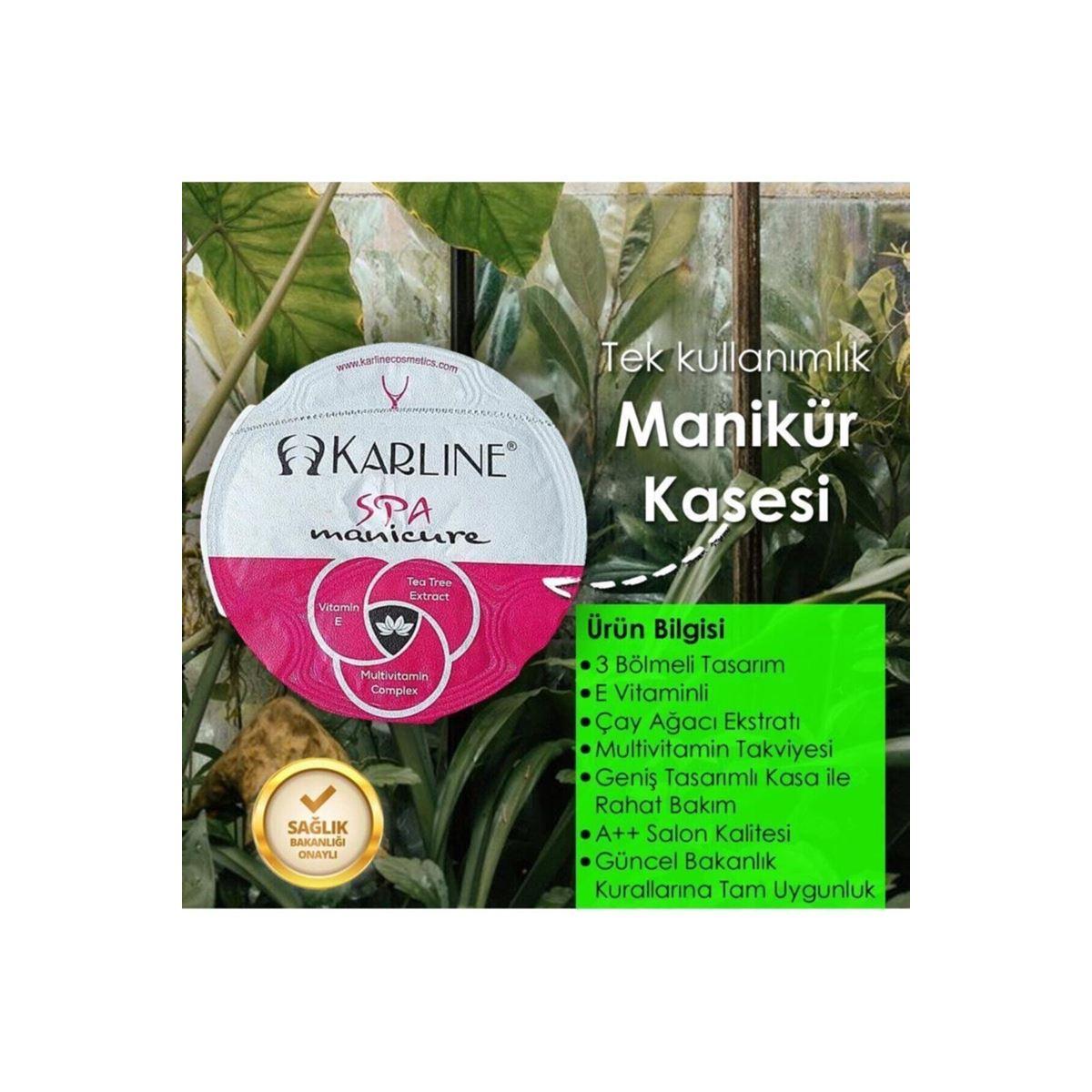 Karline Tek Kullanımlık Manikür Seti Kasesi Spa Sulu E Vitaminli Çay Ağacı Eksraktlı